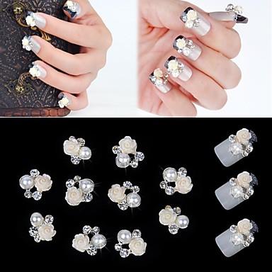 Tırnak Takısı tırnak sanatı Manikür pedikür Metal Çiçek / Klasik / Düğün Günlük