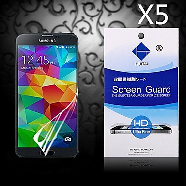 Ecran protector pentru Samsung Galaxy S5 PET Ecran Protecție Față High Definition (HD)