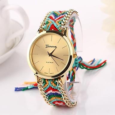 Damen Armbanduhr Schlussverkauf Stoff Band Böhmische / Modisch Mehrfarbig / Ein Jahr / Tianqiu 377