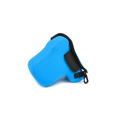 neoprene dengpin® câmera macia bolsa de protecção saco caso para Sony NEX-6 NEX-7 nex7 nex6 com lente de 18-55mm (cores sortidas)