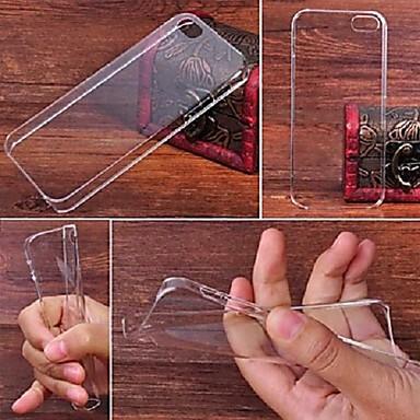 Pouzdro Uyumluluk iPhone 5 Apple Şeffaf Arka Kapak Tek Renk Sert PC için iPhone SE/5s iPhone 5