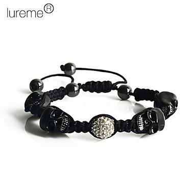 Lureme®Skull Weaving Adjustable Bracelet