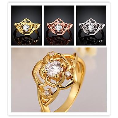 Inele Nuntă / Petrecere / Zilnic / Casual Bijuterii Placat cu platină / Placat Auriu Dame Inele Afirmatoare7 / 8 Auriu / Roze / Alb