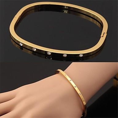 Damen Armreife - Strass, Platiert, vergoldet Armbänder Silber / Golden Für Weihnachts Geschenke Hochzeit Party