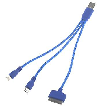 3-în-1 universal USB 2.0 de încărcare și cablu de date pentru Samsung și iPhone (22cm)