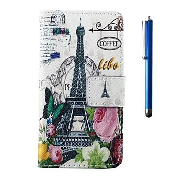 Pentru Carcasă LG Titluar Card / Portofel / Cu Stand / Întoarce Maska Corp Plin Maska Turnul Eiffel Greu PU piele LG