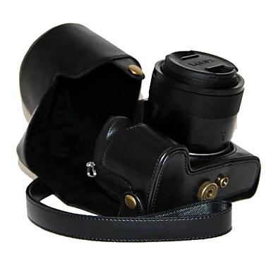 δέρμα κάμερα dengpin PU προστατευτική θήκη τσάντα κάλυμμα με ιμάντα ώμου για Panasonic Lumix DMC-fz1000 fz1000
