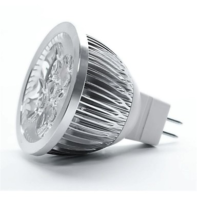 4W GU5.3 (MR16) LED-spotlampen MR16 5 leds Krachtige LED Warm wit 350-450lm 3000-3500K DC 12V