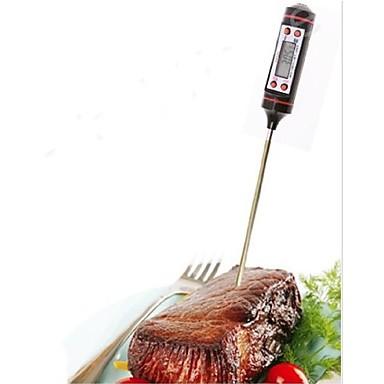 1 pc ölçüm aleti paslanmaz çelik elektronik termometre gıda çorbası