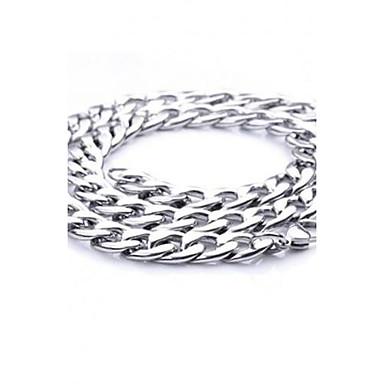 Erkek Zincir Kolyeler - Titanyum Çelik Gümüş Kolyeler Mücevher Uyumluluk Parti, Günlük