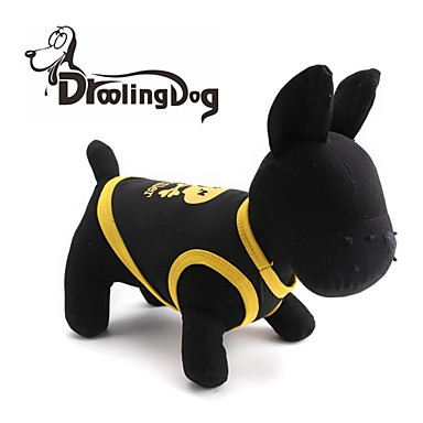 Γάτα Σκύλος Φανέλα Ρούχα για σκύλους Αναπνέει Νεκροκεφαλές Καρδιές Μαύρο Κίτρινο Μπλε Μαύρο/Κίτρινο Στολές Για κατοικίδια