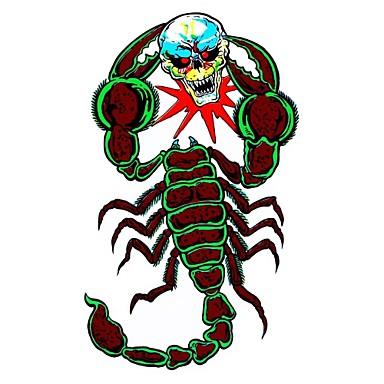 série diy mal batalhas escorpião padrão crânio projeto pvc decoração adesivo para carro e outros