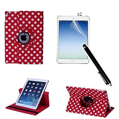 tok Για Apple με βάση στήριξης / Περιστροφή 360° Πλήρης Θήκη Πλακάκι PU δέρμα για iPad Air 2