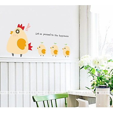 a galinha eo frango encantadores adesivos de parede