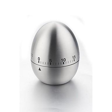 nou timer mecanic drăguț bucătărie ouă de gătit cronometru alarmă 60 de minute din oțel inoxidabil