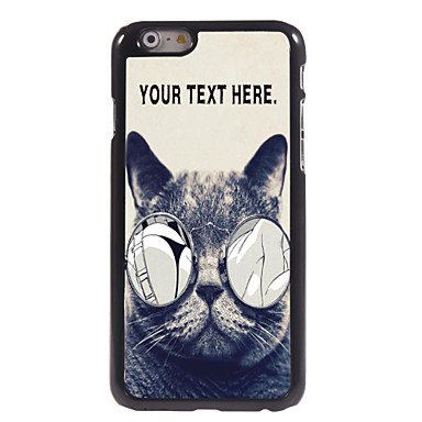 caixa personalizada gato lascivo caso design de metal para iphone 6 (4.7