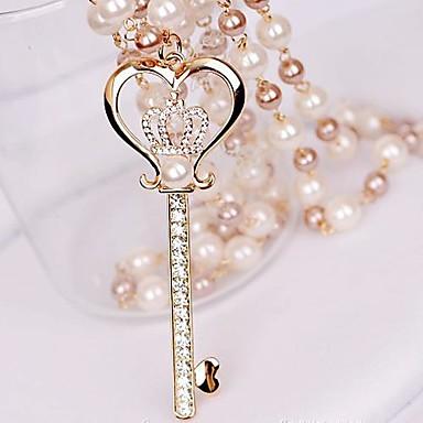 Γυναικεία Μαργαριτάρι Προσομειωμένο διαμάντι Κράμα Κρεμαστά Κολιέ Coliere cu Perle - Μαργαριτάρι Προσομειωμένο διαμάντι Κράμα Πολυτέλεια