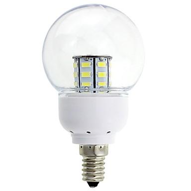 2W E14 Lâmpada Redonda LED 27 leds SMD 5630 150-200lm Branco Quente Branco Frio Decorativa DC 12