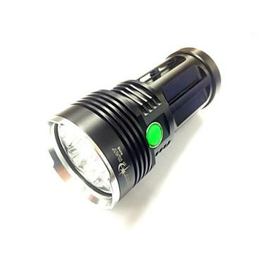 3 LED Taschenlampen LED 8000LM 3 Beleuchtungsmodus Camping / Wandern / Erkundungen / Für den täglichen Einsatz / Radsport Schwarz