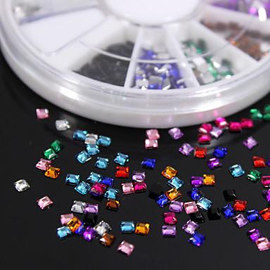 600pcs pietre colorate pătrat colorat piatră acrilice manual diy material ambarcațiunile / accesorii de îmbrăcăminte
