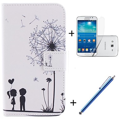 Capinha Para Samsung Galaxy Porta-Cartão Carteira Com Suporte Flip Estampada Capa Proteção Completa dandelion Rígida PU Leather para