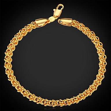 dos homens pulseira de ouro 18k robusto gargantilha cadeia banhado pulseira de alta qualidade