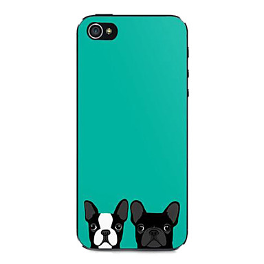 Blue Two Puppies Pattern Hard Case for iPhone 5/5S