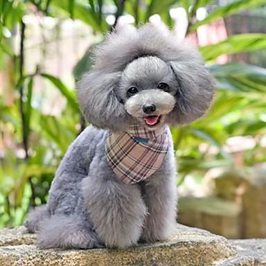 einstellbar Leinwand und Nylon rosa Zellmuster Dreieck Halstuch für Hunde (verschiedenen Größen)