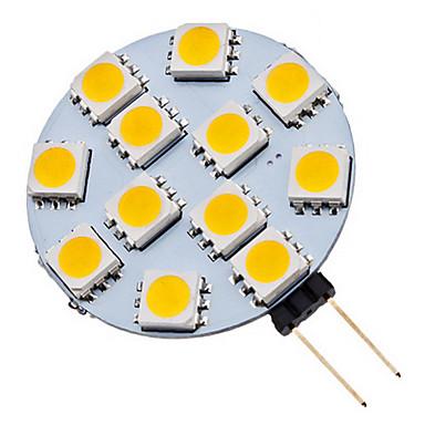 70 lm G4 Lâmpadas de Foco de LED 12 leds SMD 5050 Branco Quente Branco Frio AC 12V