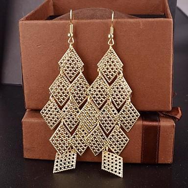 Damen Synthetischer Diamant Tropfen-Ohrringe - Europäisch, Erklärung, Fest / Feiertage Gold / Silber Für Party / Besondere Anlässe / Alltag