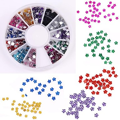 600pcs 12 kleuren pruim vormige diamant nail art decoratie