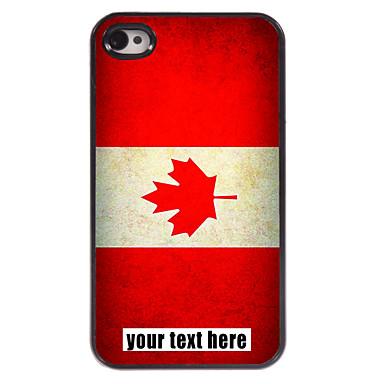 gepersonaliseerd geval Canadese vlag ontwerp metalen behuizing voor de iPhone 4 / 4s