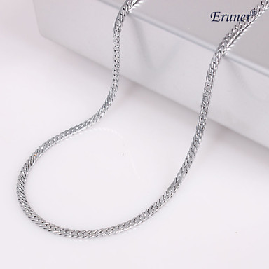 Eruner®Unisex 2MM Silver Chain Necklace NO.47