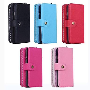 multiuso carteira zip capa de couro pu com slot para cartão de suporte e para o iphone 6 (cores sortidas)