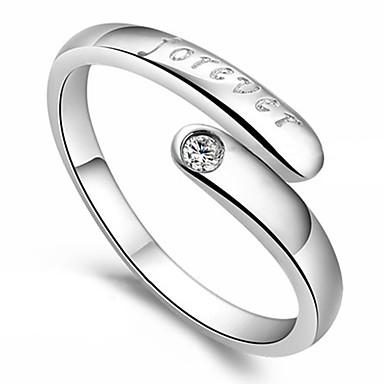 Kadın's Bildiri Yüzüğü - Som Gümüş Kalp, Aşk Açık Tek Beden Ekran Rengi Uyumluluk Parti