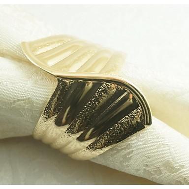 Σίδερο Δαχτυλίδι Πετσέτας Με Μοτίβο Φιλικό προς το περιβάλλον Επιτραπέζια διακοσμητικά 12 pcs
