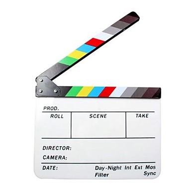 ακρυλικό κλακέτα ταινία σχιστόλιθο / σκηνοθέτης της ταινίας - άσπρο + μαύρο