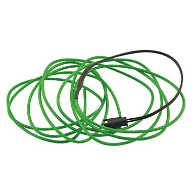 auto auto 2m lang 2.3mm dia flexibel el draad neon glow strip touw- (12v)