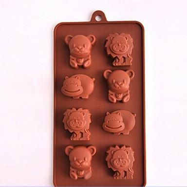 Animal Chocolate Biscoito Bolo Silicone Amiga-do-Ambiente Alta qualidade Anti-Aderente Molde