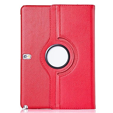 cheap Samsung Tablets Case-Case For Samsung Galaxy Tab 4 10.1 360° Rotation / with Stand / Flip Full Body Cases Solid Colored PU Leather