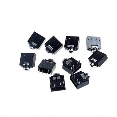 Conector de áudio de 5p 3,5 pares de canal (10pcs)