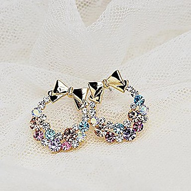 Women's Rhinestone Stud Earrings - Fashion Golden Earrings For Daily