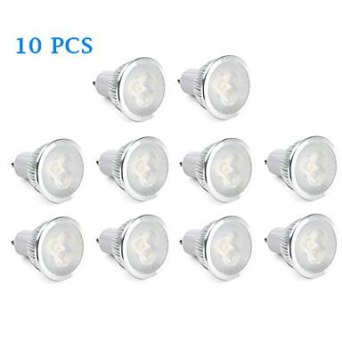 GU10 LED-spotlampen 3 Krachtige LED 310 lm Warm wit Natuurlijk wit AC 220-240 V 10 stuks