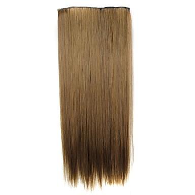 Echthaar Haarverlängerungen Klassisch Haar-Verlängerung Clip In / On Braun Alltag