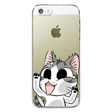 Pouzdro Uyumluluk iPhone 5 / Apple / iPhone X iPhone X / iPhone 8 Plus / iPhone 5 Kılıf Ultra İnce / Şeffaf / Temalı Arka Kapak Karton Yumuşak TPU için iPhone X / iPhone 8 Plus / iPhone 8