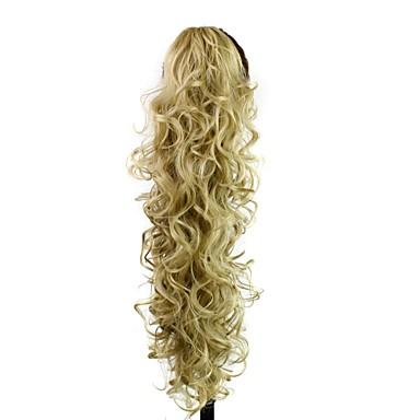 Pferdeschwanz Haarstück Haar-Verlängerung Alltag / Blond / Wellen