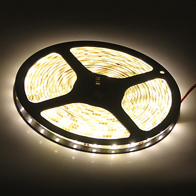 5m Flexible LED-Leuchtstreifen 300 LEDs 5050 SMD Warmes Weiß Wasserfest 12 V / IP65