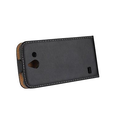 Para Capinha Huawei Flip Capinha Corpo Inteiro Capinha Cor Única Rígida Couro PU Huawei Huawei Y550