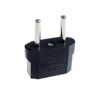 EU Plug to EU and US Plug AC Power Adapter (2pcs)