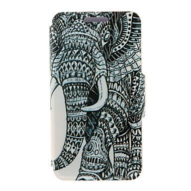 Voor Samsung Galaxy Note Kaarthouder / met standaard / Flip hoesje Volledige behuizing hoesje Olifant PU-leer SamsungNote 5 Edge / Note 5